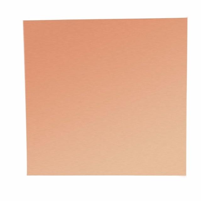 1 pc 99.9% pur cuivre feuille bande mince métal Cooper Cu feuille rouleau 0.1mm x 100mm x 100mm avec résistance à la Corrosion
