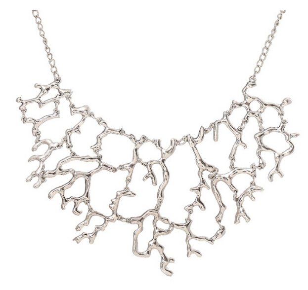 Statement Necklace For Women 2016 Fashion New Exaggerated Luxury Vintage Hollow Tree Branch Chokers Collares Necklace XY-N51