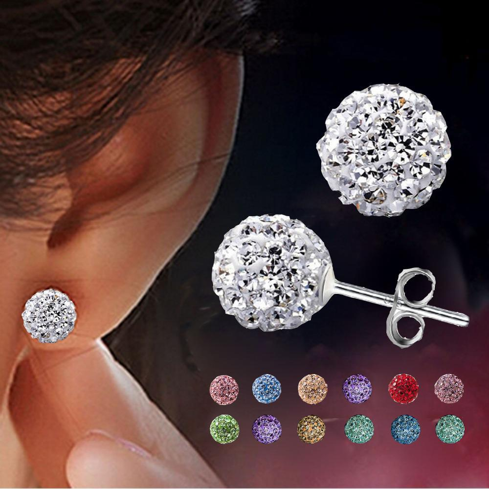 Earrings Brincos Earing Online Shopping India Aros Pendientes Mujer For Women Brinco Perlas Crystal Stud Oorbellen