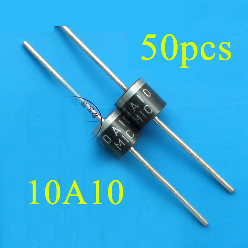 50pcs 10a10 10 Amp V 10a 1kv Axial Rectifier Diode Mic