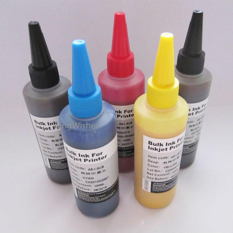 ФОТО 5 Bottles 100ML T1151 T1151 T0732N T0733N T0734N Sublimation Ink For Epson Stylus T33 Inkjet Printer