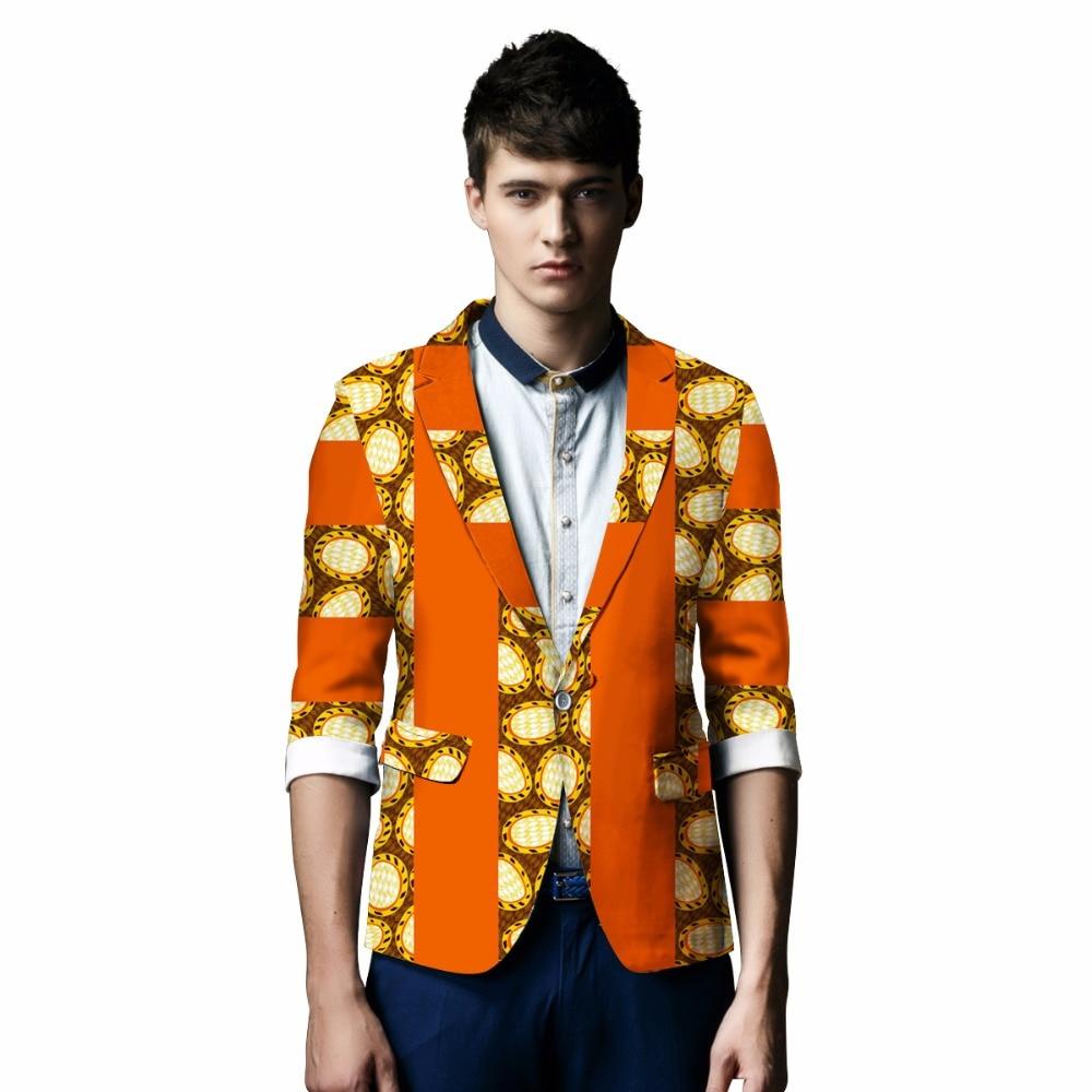Aafrika trükirõivad Bazin Riche elegantne bleiseri meestele sobivad jakid vabaaja Blazer Dashiki Aafrika rõivad pluss suurus 6XL BRW WYN126