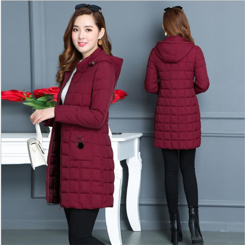 Winter Jacket 2019 Female   Parka   Cotton winter Jacket woman Plus Size 5XL Long Hooded thin   Parkas   autumn Coat Women Outwear G138