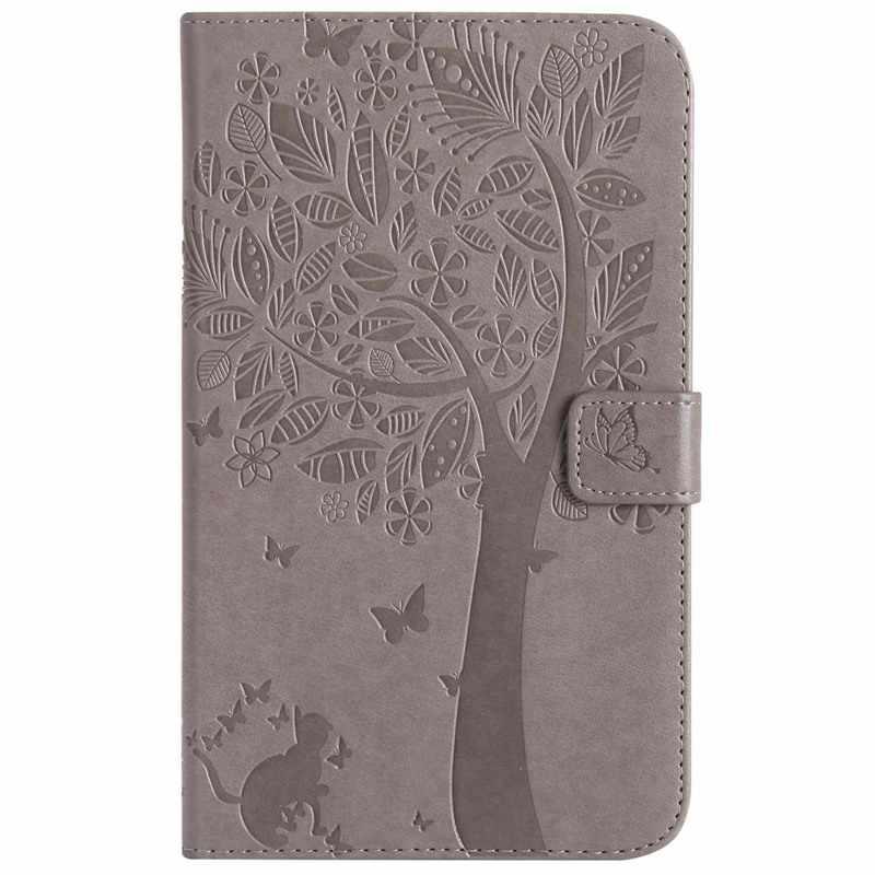Чехол из тисненой искусственной кожи с изображением кошачьего дерева для samsung Galaxy Tab A 7,0 2016 T280 T285, чехол для samsung Tab A6 7,0 дюймов, Чехол + пленка + ручка