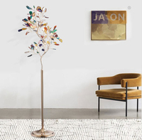 g4 led Nordic Iron Agate Tree Colorized Designer LED Lamp LED Light LED Floor Lamp Floor Light For Foyer Dinning Room Bedroom