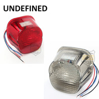 5 Wire 12V Motorbike Smoke Red Lens LED Tail Brake License Plate Light For Harley Dyna Softail FXSTC Sportster 1200 UNDEFINED