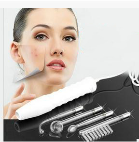 High frequency comb rod electrotherapy facial spots skin care liquid to hair salon facial acne treatment equipment company