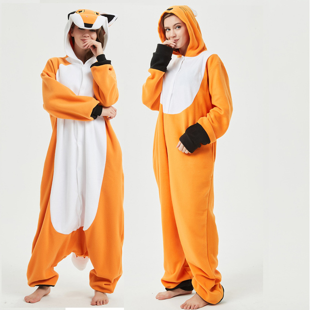 2styles High Quality Fox Kigurumi Animal Adult Onesie Orange Women Pajamas  Party Cosplay Unisex Sleepwear Halloween Costume 6ba7554f165c1