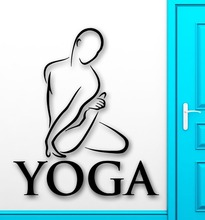 Yoga Vinyl Wall Decal Yoga Health Mantra Meditation Buddhism Decor Fitness Centre Wall Sticker Wall Sticker