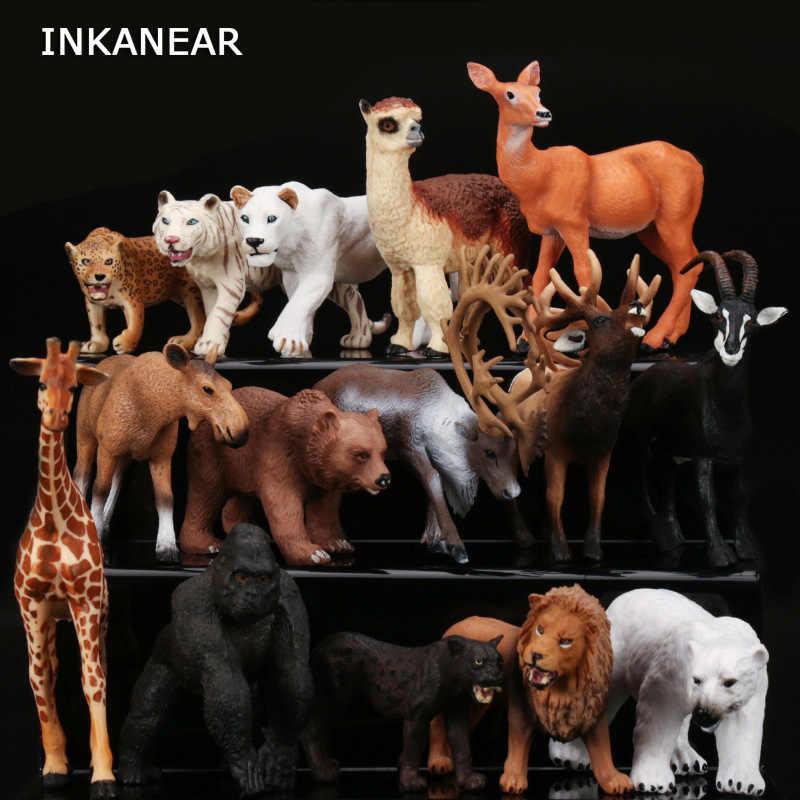 Figurine Animal Model Leopard Deer Lion Ornaments Lifelike Succulents Home Decoration Accessories Decor Gift For Kids