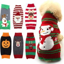 Wool-Coats Sweater Knit Dogs Christmas Chihuahua Winter Warm for Pet-Costume Santa-Claus