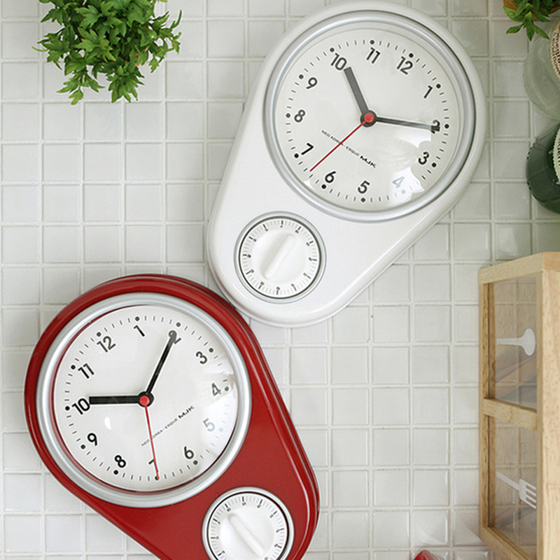 Modern Minimalist Red Countdown Function Creative Mute Bedroom Kitchen Wall Battery Clock Timer