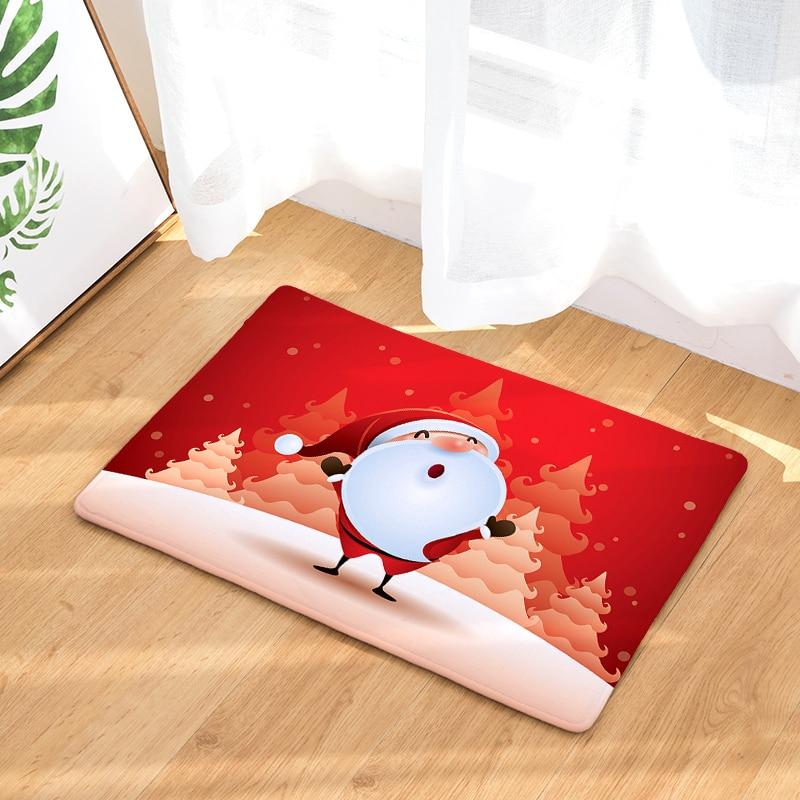 Christmas Waterproof Anti-Slip Floor Mat Ocean Sea Octopus Carpets Bedroom Rugs Decorative Stair Mats Home Decor Crafts