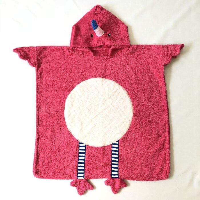 Роза мультфильм антибактериальные хлопковые полотенца детское махровое полотенце Спорт на открытом воздухе полотенце для бассейна с фламинго - Цвет: Rose 60x60cm