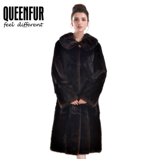 d02ebc2d Top Quality Real Mink Fur Coat Women Natural Whole Skin Mink Fur Long  Sleeves Jacket Genuine