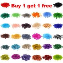 Купить 1 получить 1 бесплатно#5301 3 мм 100 шт стеклянные кристаллы бусины биконус граненый свободный разделитель бисер DIY Изготовление ювелирных изделий U выбрать цвет