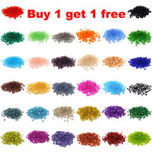 Buy 1 get 1 free #5301 3mm 100pcs Glass Crystals Beads Bicone Faceted Bead loose Spacer Beads DIY Jewelry Making U pick color(China)