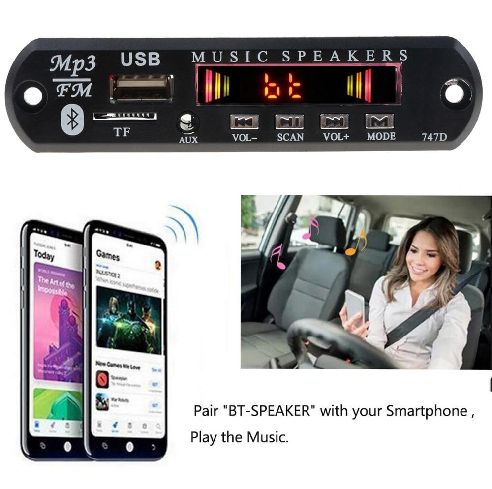 Mp3-player Offizielle Website Kebidu Drahtlose Bluetooth Mp3 Decoder Board Modul Für Auto Audio Usb Tf Fm Radio Aux 12 V 24 V Tragbares Audio & Video Fernbedienung Für Iphone Huawei