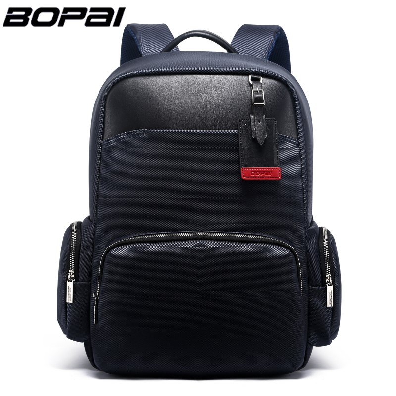 BOPAI Brand External USB Charge Computer Bag Shoulders Anti-theft Notebook Backpack 15 inch Waterproof Laptop Backpack for Men brand external usb charge computer bag anti theft notebook backpack 15 17 inch black waterproof laptop backpack for men women