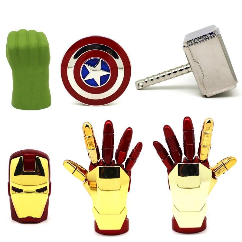 Super Hero USB Flash Drive 128MB The Avengers Pen Drive 4G 8G 16G 32G Iron Man/Hulk/Thor Pendrive 64GB Memory Stick