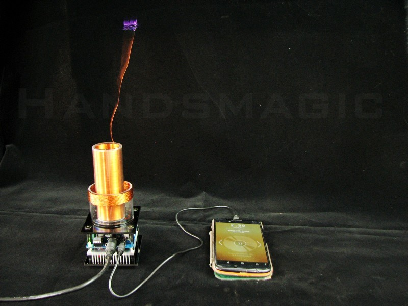micro music tesla coil Plasma loudspeaker air Speaker Teaching experiment diy plasma loudspeaker music tesla coil science experiment student physics
