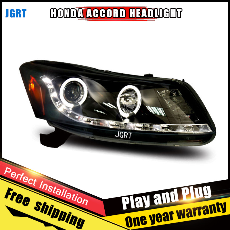 2PCS Car Style LED headlights for Honda Accord 08-12 for Accord head lamp LED DRL Lens Double Beam H7 HID Xenon bi xenon lens новый генератор подходит для honda accord odyssey 2 3l f20b 2 0l oem 31100 p5m 0030
