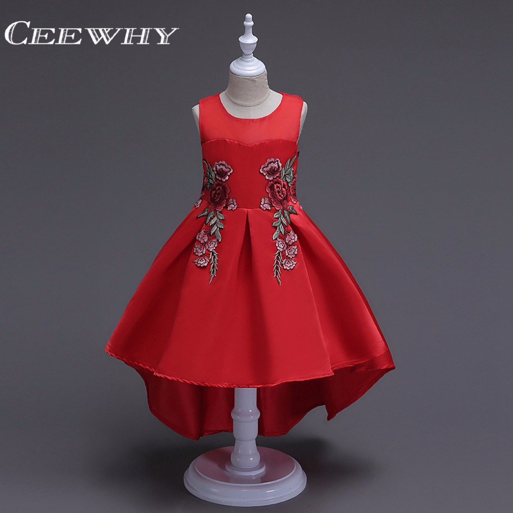 CEEWHY Ball Gown Prom   Dress   For   Girls   Floral Embroidery   Flower     Girl     Dresses   First Communion   Dresses   for   Girls   Formal   Dress