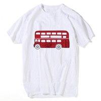 המודפס T חולצה אוטובוס אדום עיצוב חדש תיוג Mens קיץ טי אופנה חולצות Mens כותנה צמרות ייחודי Mens חולצת טי
