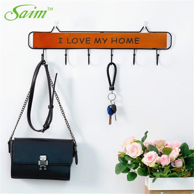 Nice Saim Decorative Hook Door Wooden Hooks For Hanging Coat Porch Wall Key  Holder Rack Home Decor