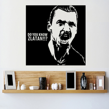 цена 2016 New design Zlatan Ibrahimovic Figure Wall Sticker Vinyl DIY home decor football star Decals soccer athlete Player kids room онлайн в 2017 году