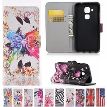 Hot Fashion Flip Leather Wallet Case for Huawei GR5 GR3 G9 Nova Plus Y6 II Compact Y5 II Y3 ii Y5II Honor 5A 5X 4A P9 Lite P8
