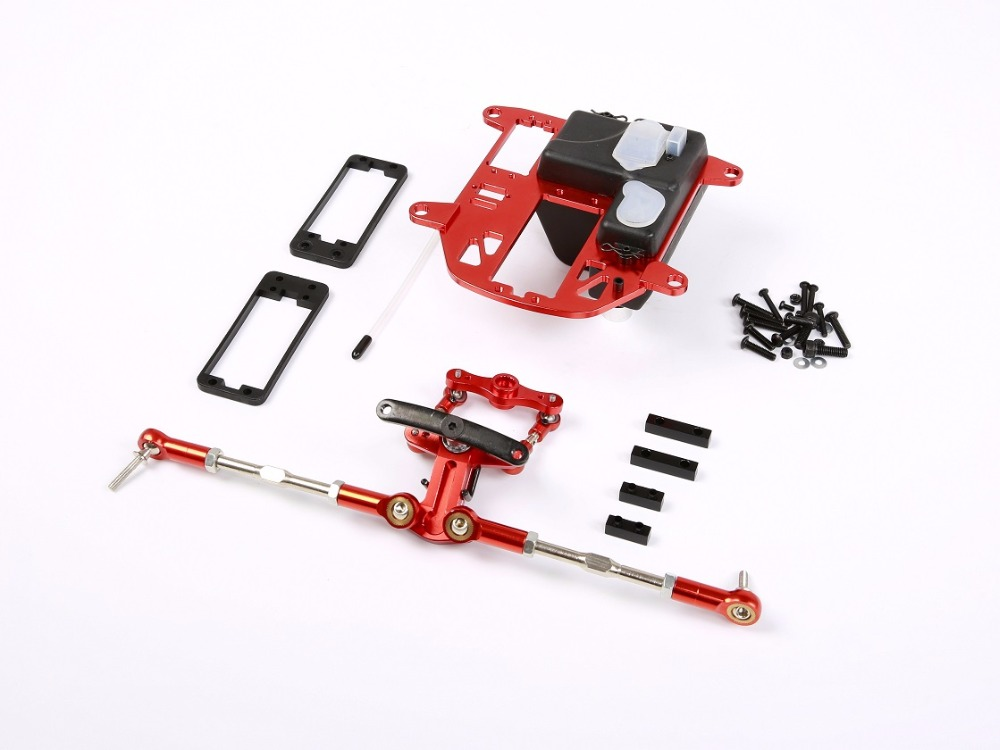 Металла с ЧПУ система рулевого управления с пластиковый корпус батареи набор для 1/5 HPI Rovan КМ Baja 5B 5 т 5SC RC части автомобиля