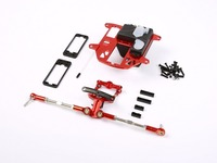 CNC Metal Steering System With Plastic Battery Case Set For 1 5 Hpi Rovan Km Baja