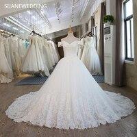 SIJANE реальные фотографии на заказ платье принцессы Винтаж мусульманских плюс Размеры с открытыми плечами кружевное платье Рубашка с коротк