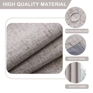 Image 4 - Linen 100% Blackout Curtains For Kitchen Bedroom Window Treatment  Solid Water Proof Curtains for Living Room Custom Made