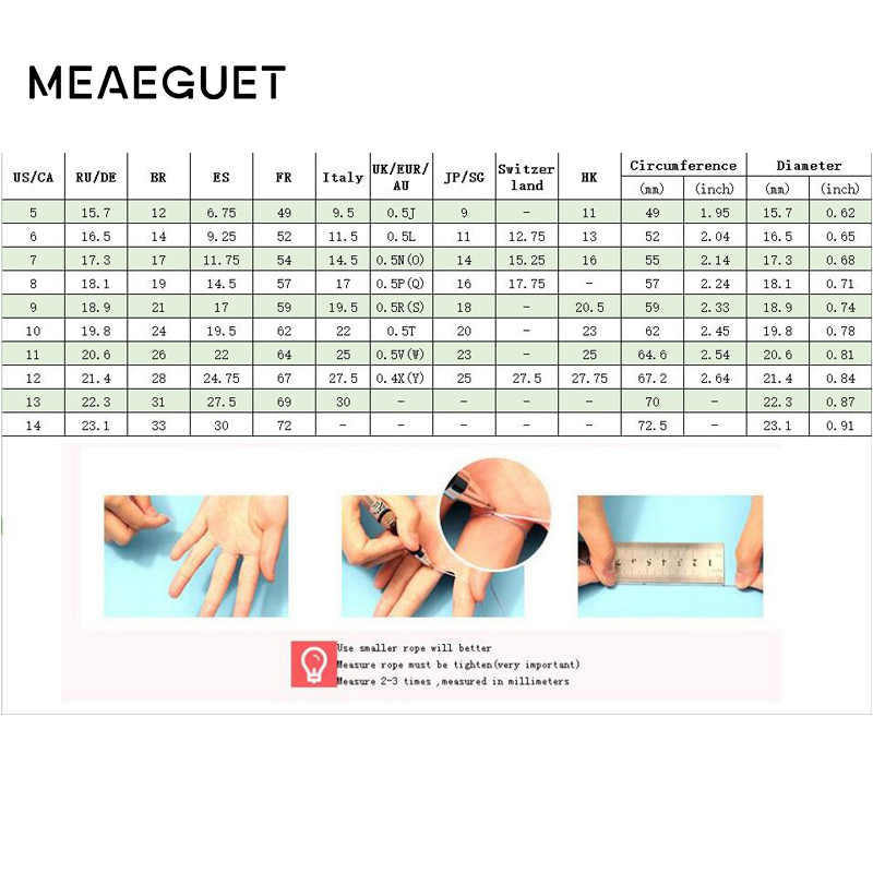 Meaeguet Rose Gold สีที่ไม่ซ้ำกันเคลือบแหวนสแตนเลสรักแหวนหญิงแหวนแต่งงาน Anel หมั้นเครื่องประดับ
