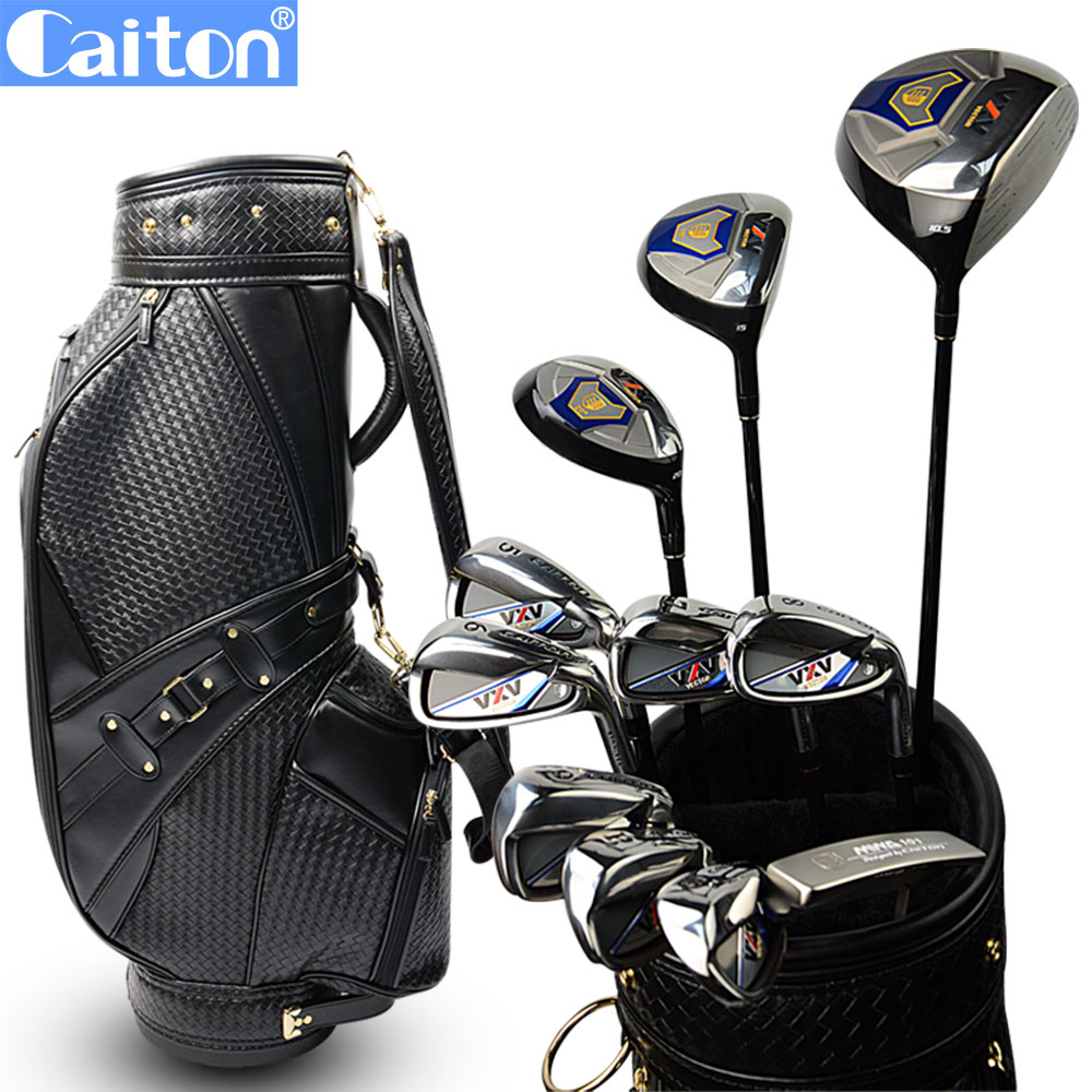 Caiton Men's Golf Clubs Complete Set With Bag famous brand polo golf travel wheels standard stand caddy bag complete golf set bag nylon golf cart bag staff cart golf bags