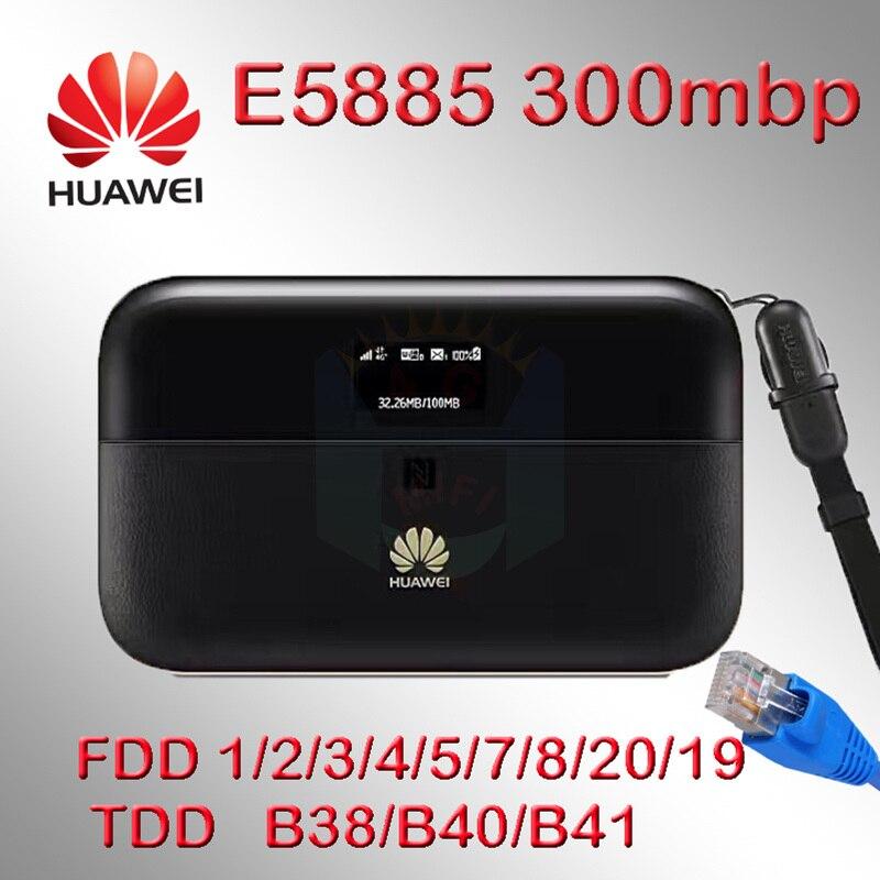 Huawei e5885 router 4g rj45 cat6 300 Mbps 3g 4g wifi hotspot tasca wi-fi sim card Ethernet 6400 mah E5885Ls-93a Mobile di WiFi PRO