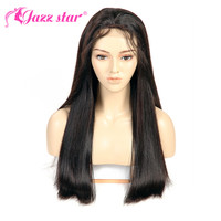 Brazilian Wig 4*4 Straight Lace Frontal Wig Lace Front Human Hair Wigs Pre Plucked With Baby Hair Jazz Star Non Remy Lace Wig