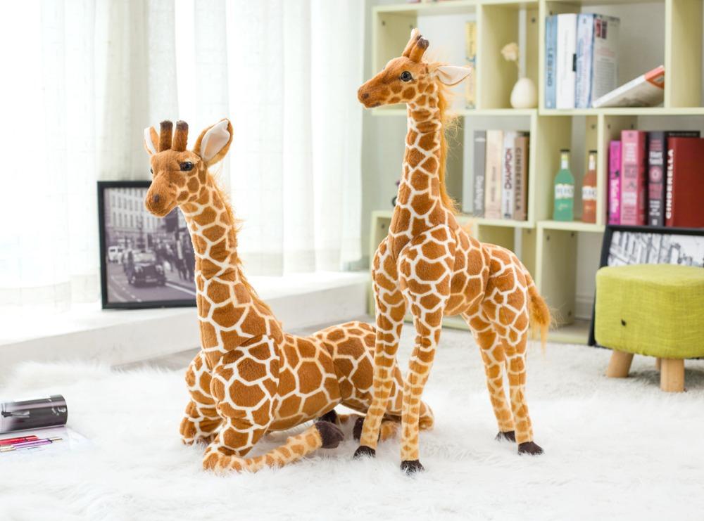 2019 Huge Real Life Giraffe Plush Toys Cute Stuffed Animal Dolls