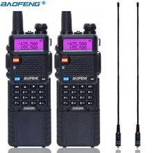 2 sztuk Baofeng UV 5R 3800 Walkie Talkie 5 watów dwuzakresowy UHF 400 520MHz VHF 136 174MHz dwukierunkowe Radio + 2 sztuk NA 771 antena