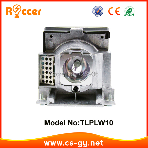 Projector lamp TLPLW10 for TOSHIBA TDP-T100/TDP-T99/TDP-TW100/TLP-T100 with housing цена