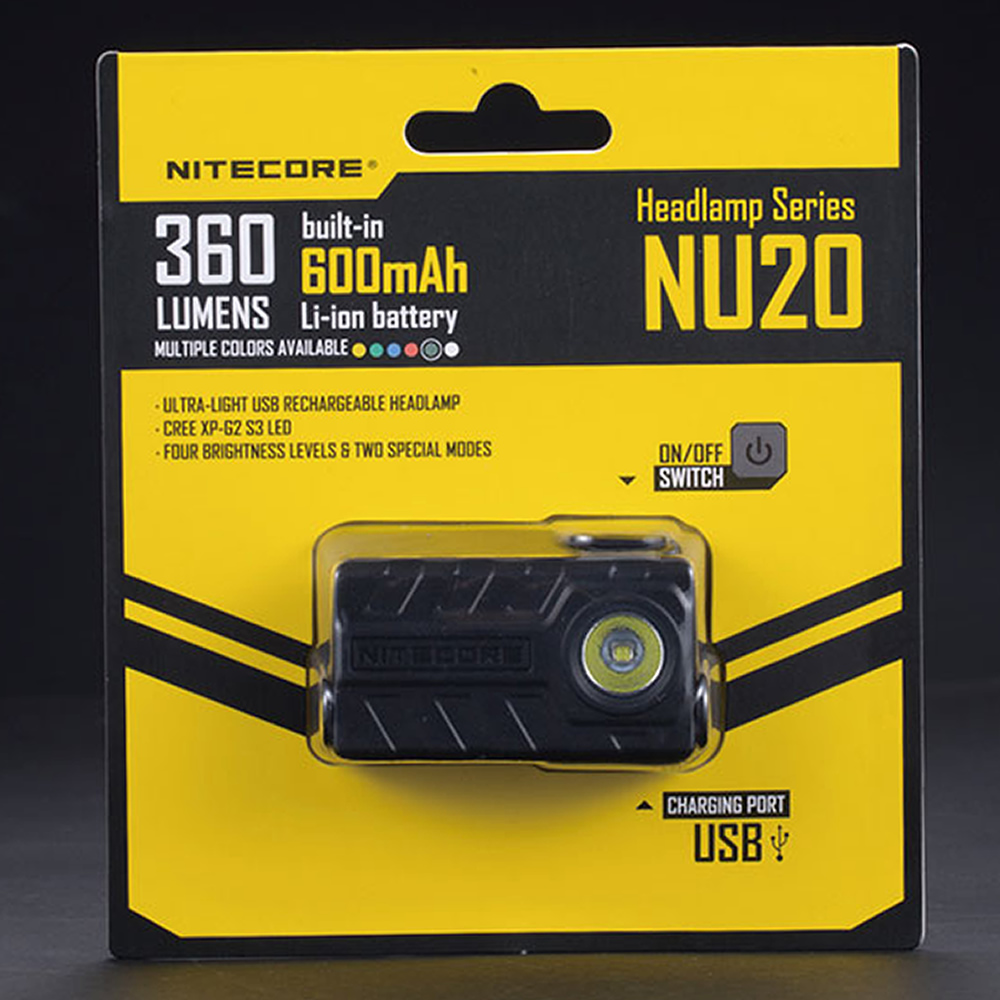10%OFF NITECORE NU20 270 Lms Nichia 219B LED With Rechargeable Li-ion Battery 100 Hour Runtime Headlamp Flashlight Outdoor Sport