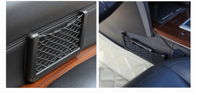 Car mesh accessories. Conveniently placed items goods Cell phone. for AUDI a1 a3 a4L a4 a5 a6 b8 c5 c6 b7 a6L a7 a8L S5 S a8