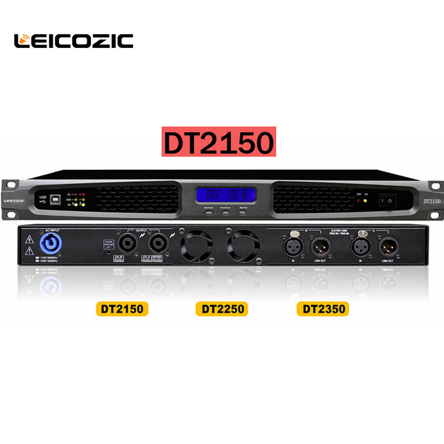 Leicozic Dt2150 500w Cld Amplifier Dsp Power Amplifier W 4ohm Rms Professional Amps Amplifier Switching Power