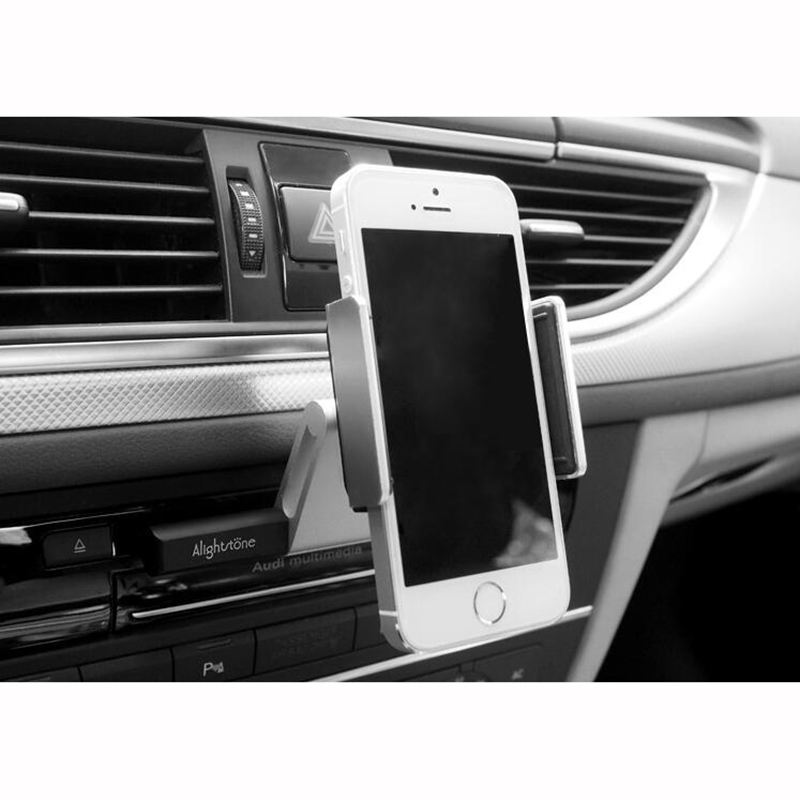 Aluminum Alloy Universal Smartphone CD Slot Car Phone Holder Air Vent Mount Cradle for iPhone Samsung Xiaomi GPS Car Holder