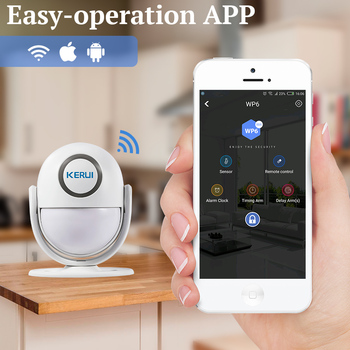 KERUI WIFI Home Security Alarm System Works with Alexa Smart App 120dB PIR Main Panel Door/window Sensor Wireless Burglar Alarm 2