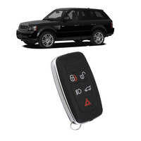 New 5 Button Lock Unlock Remote Low Beam Car Key Trunk Panic Fob Case Shell For Land Rover Range Rover Sport 2010 2011 2012