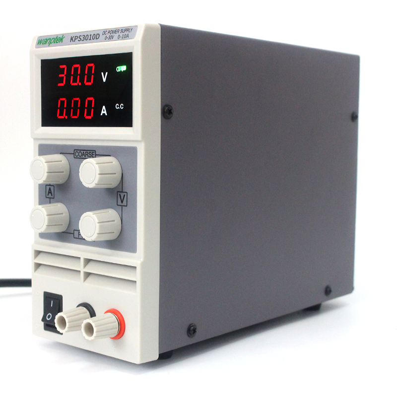 KPS3010D 30V 10A AC110V-220V Adjustable High precision double display mini switch DC Power Supply protection function 30v 3a dc regulated power high precision adjustable supply switch power supply maintenance protection function kps303df
