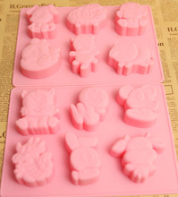 Special offer! New products! 12 zodiac handmade soap DIY mold flower film